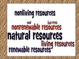 Natural Resources Renewable & Nonrenewable Study Guide & W