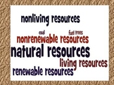 Natural Resources Renewable & Nonrenewable Study Guide & W