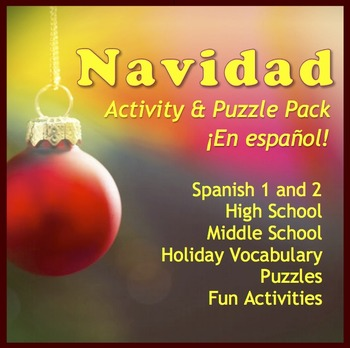 Navidad Activity and Fun Pack in Spanish by Anne Karakash