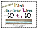 Negative Number Line Math 6.NS.5 to Math 6.NS.7