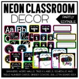 Neon Classroom Decor Set