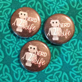 Nerd 4 Life Math Button Set of 3