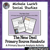 New Deal Great Depression Primary Source Analysis Assignme