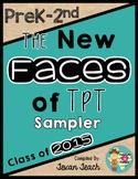 The New Faces of TpT Sampler:  PreK-2nd Grade