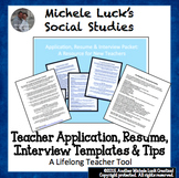 New Teacher Application, Resume & Interview Templates & Tips