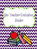 New Teacher Evaluation Binder