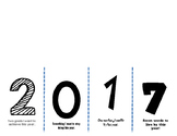New Year Flap Book