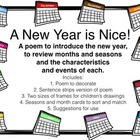 New Year Poem - Teaches Months, Seasons, and Weather