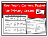 New Year's Center Packet for First and Second Grade
