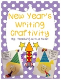 New Year's Craftivity + Writing