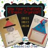 New Year's Writing Craftivity & Graphic Organizers