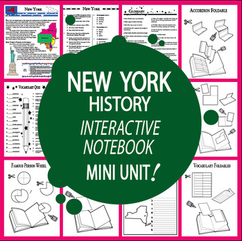 New York Mini Unit-Interactive Notebook Activities-Audio I