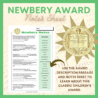 Newbery Notes Freebie