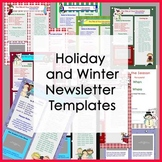 Winter and Holiday Newsletter Templates / Party - Set of 1