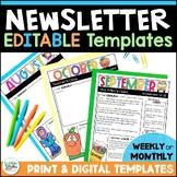 Newsletters for the Year! - 44 Seasonal Themed Newsletter
