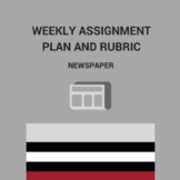 Newspaper Weekly Assignment Plan and Rubric
