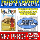 Nez Perce Native Americans Passage and Activity for INTERA