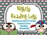 Nightly Reading Logs for EVERY 5th Grade Common Core Readi