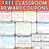 No Cost Reward Coupons for the Classroom