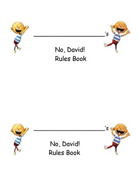 No David Book - Classroom Behaviors - Rules (Back to school)