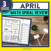No Prep APRIL MATH Spiral Review for 3RD GRADE