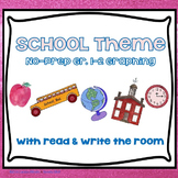 No-Prep School Theme Graphing and Read/Write the Room