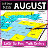No Prep MATH Centers for August {2nd Grade} (Back to School)