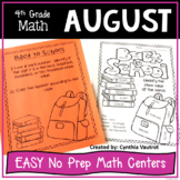 No Prep MATH Centers for August {4th Grade}  (Back-to-School)