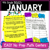 No Prep MATH Centers for January {4th Grade}