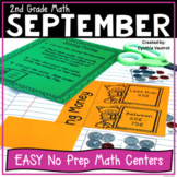 No Prep MATH Centers for September {2nd Grade}