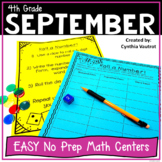 No Prep MATH Centers for September {4th Grade}