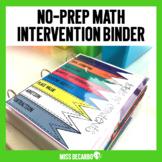Math Intervention No Prep Binder