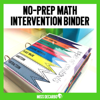 Math Intervention No Prep Binder
