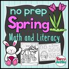 No Prep Spring Literacy Kindergarten Pack