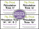 No Print Articulation Trivia: Bundle