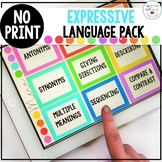 No Print Expressive Language Pack