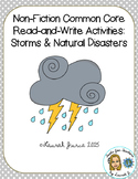 Non-Fiction Common Core Read-and-Write Activities: Storms