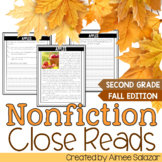 Nonfiction Close Reads for the Fall Months {CCSS Aligned}