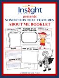 """Nonfiction Text Features """"About Me"""" Booklet"""