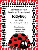 Nonfiction Text Features Assessment Ladybug