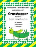 Nonfiction Text Features Assessment Grasshopper