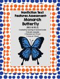Nonfiction Text Features Assessment Monarch Butterfly