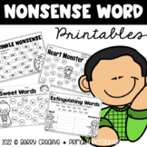 Nonsense Word Printables {DIBELS Intervention}