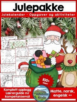Norsk julepakke - Komplett opplegg innen matte, norsk og engelsk! [BM & NN]