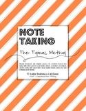 Social Studies Note Taking - (TOPICAL METHOD/Lesson Plan &