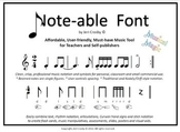 Note-able Font Package - Essential Music Teacher & Self-Pu