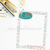 Notes from the Teacher: Hello! {2 Notepad Pack}