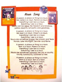 """""""Noun Song"""" Poster from """"Grammar Songs"""" by Kathy Troxel/Au"""