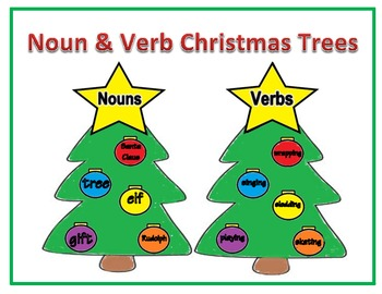 Noun & Verb Christmas Trees
