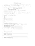 Noun Worksheet with a Twist